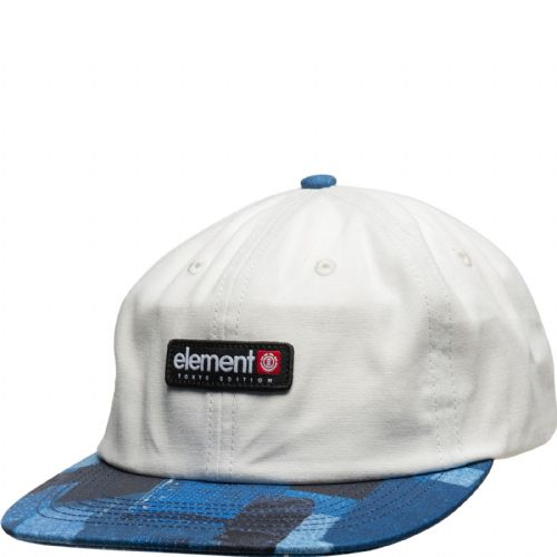 ELEMENT MENS BASEBALL CAP.NEW TOKYO POOL DECONSTRUCTED WHITE BLUE COTTON HAT S20